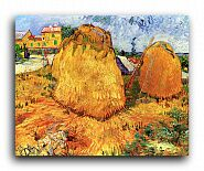 "Репродукция 1569 ""Стога в Провансе (Haystacks in Provence)"""