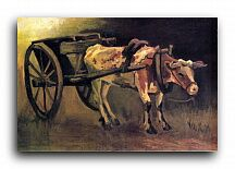 "Репродукция 1488 ""Повозка и красно-белый бык (Cart with Red and White Ox)"""