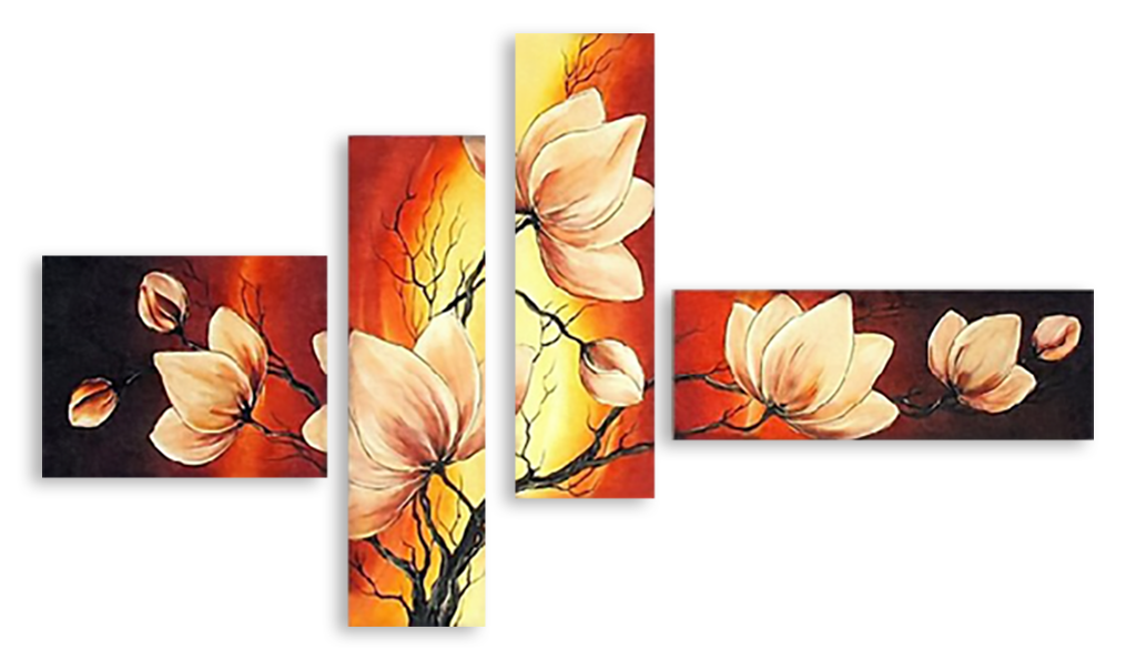 Триптих из ткани своими руками фото