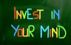 "Постер 1215 ""Invest in your mind"""